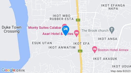 Monty Suites Calabar Map
