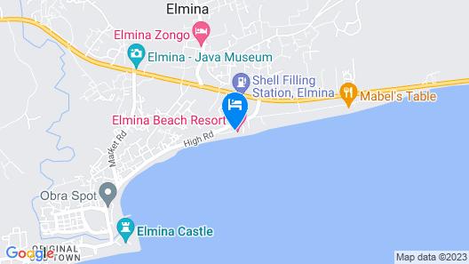 Elmina Beach Resort Map