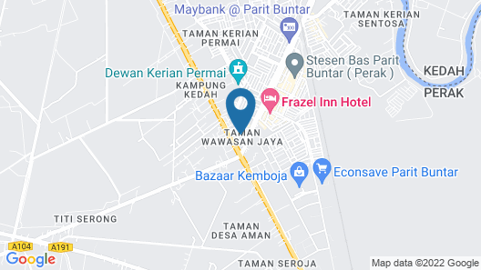 O&G Hotel Parit Buntar Map