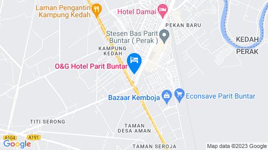 O&G Hotel Parit Buntar Map
