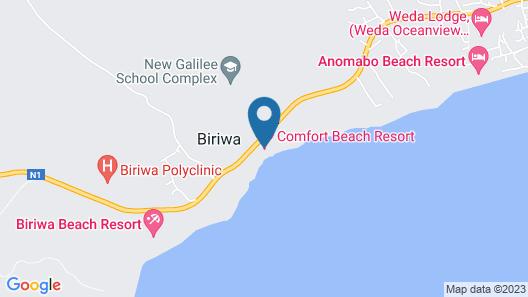 comfort beach ressort Map