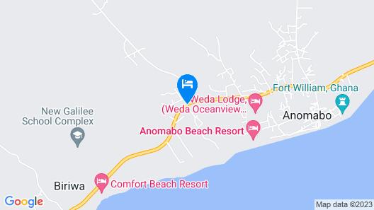 Biriwa Beach Hotel Map