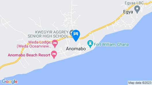 Anomabo Beach Resort Map