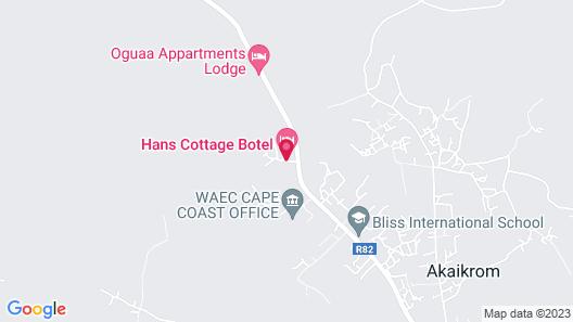 Hans Cottage Botel Map
