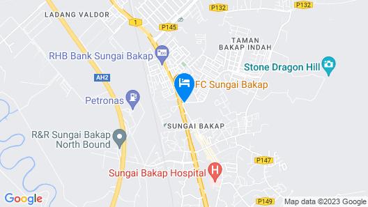 Hotel Zamburger Sg Bakap Map