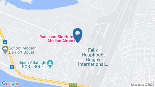 Radisson Blu Hotel, Abidjan Airport Map