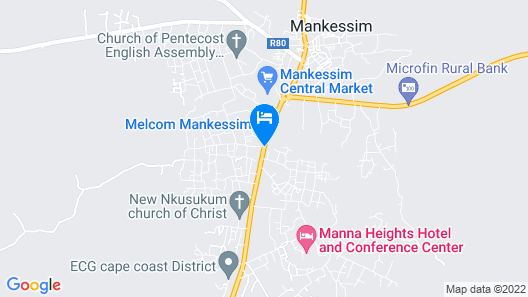 Manna Heights Hotel & Conference Centre Map