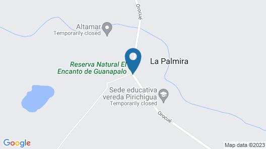 Reserva Natural El Encanto de Guanapalo Map