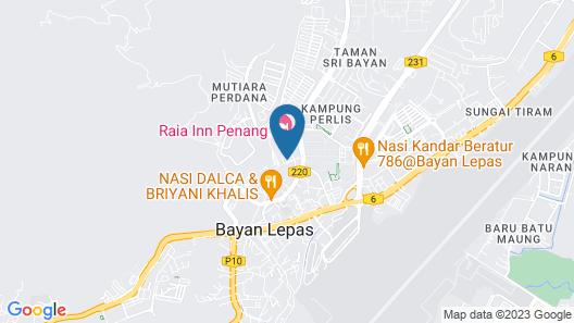 Raia Hotel Penang Map