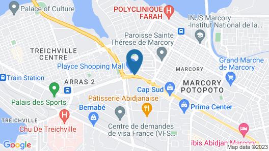 Azalai Hôtel Abidjan Map