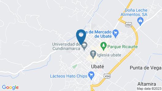 Mirador Hotel Ubate Luzaft Map