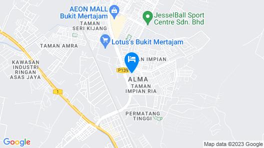 U Plus Budget Hotel Map