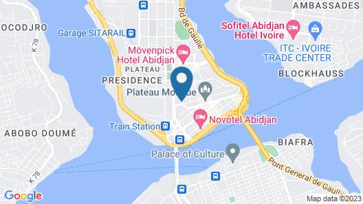 Seen Hotel Abidjan Plateau Map