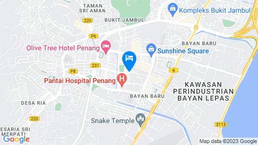 Hotel Seri Malaysia Pulau Pinang Map