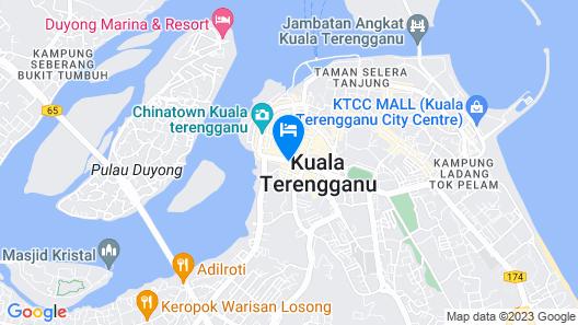 Arena Boutique Hotel Kuala Terengganu  Map