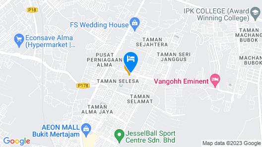 E-Red Hotel Cosmo Map