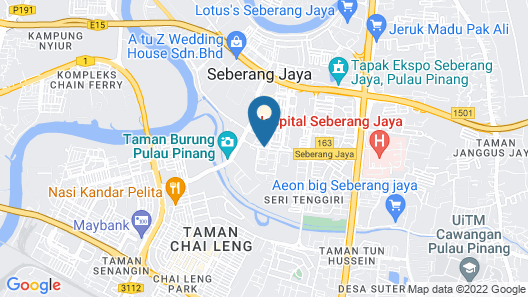 Sunway Hotel Seberang Jaya Map