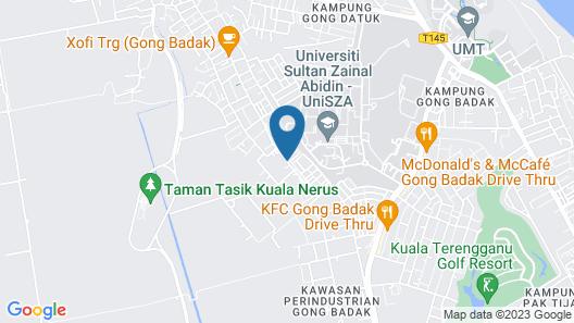 The Serai Cottage Transit Hotel Map