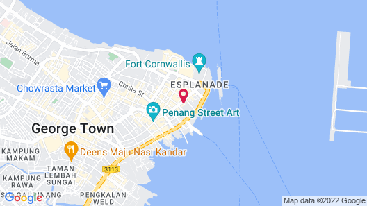 The Prestige Hotel Penang Map
