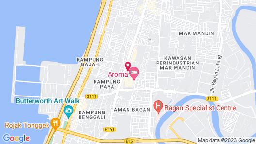 Aroma Hotel Map