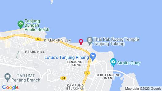 Hotel Sentral Seaview, Penang Map
