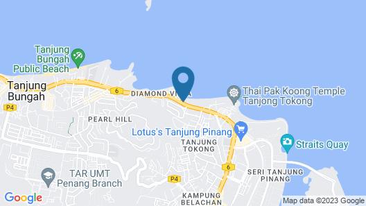Mercure Penang Beach Map