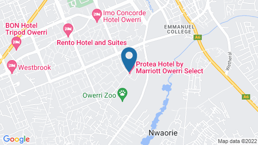 Protea Hotel Owerri Select Map