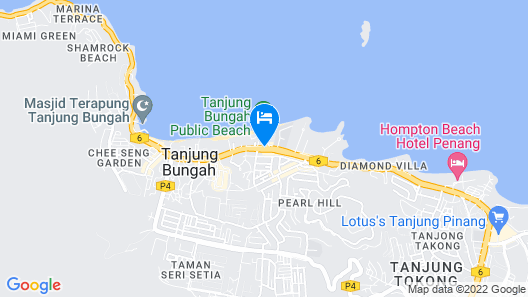 Flamingo By The Beach Penang Map