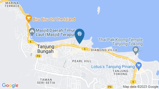 Orchid Hotel Penang Map