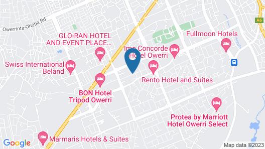 City Cruz Hotel Map
