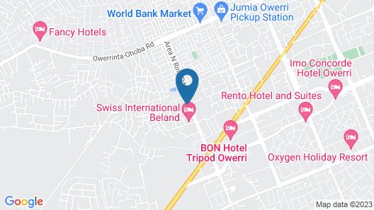Newton Hotels Limited Owerri Map