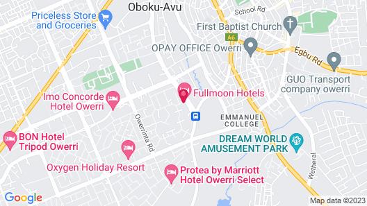 Full Moon Hotels Map