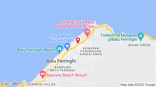 Shangri-La Golden Sands, Penang Map