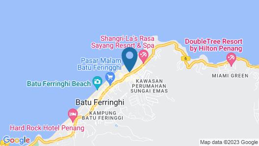 Golden Sands Resort by Shangri-La, Penang Map