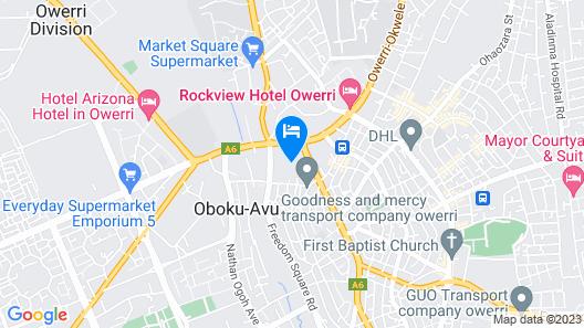 Toprate Luxury Hotel Map