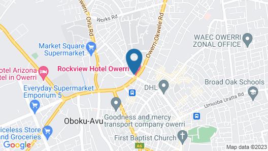 Rockview Owerri Hotels- Map