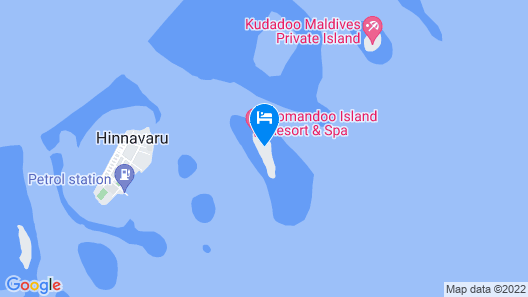 Komandoo Maldives Island Resort Map