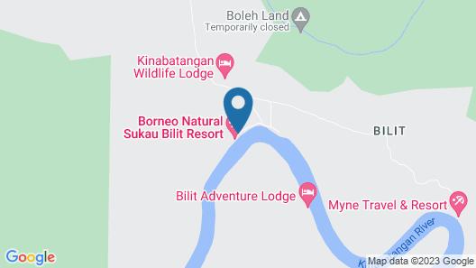 Borneo Natural Sukau Bilit Resort Map