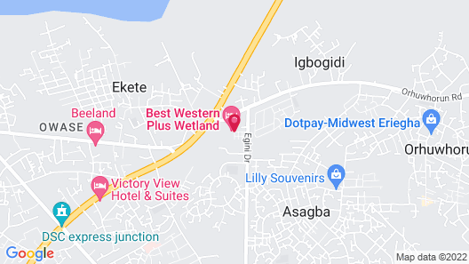 Warri Wetland Hotel Map