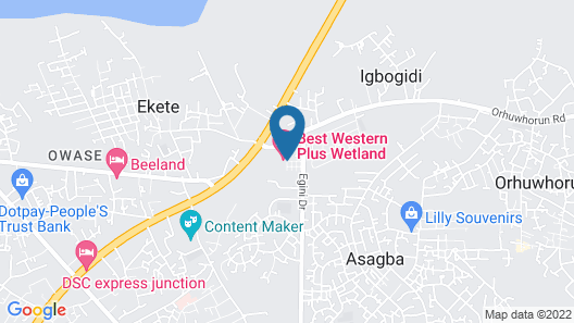 Warri Wetland Hotel Map