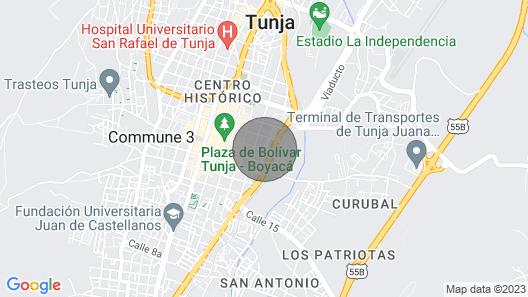 Amazing apartment Historical Center Tunja Map