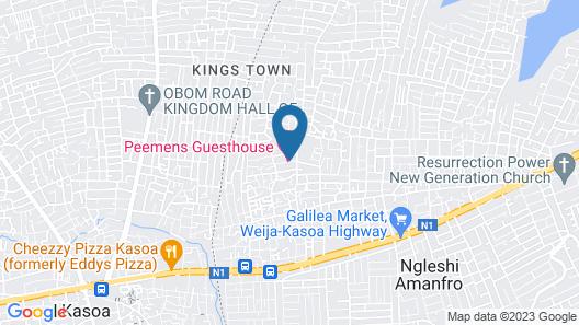 Peemens Guesthouse Map