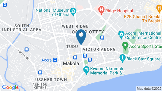 Accra City Hotel Map