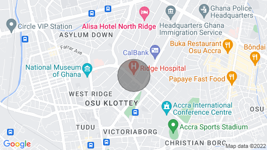 Studio Apartment in Osu LG-000101 Map