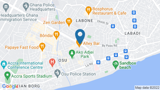 Axis Suites Hotel Map