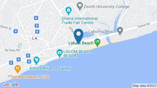 La Palm Royal Beach Hotel Map
