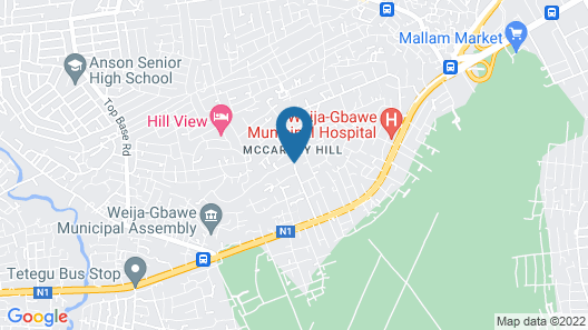 Hill View Hotel McCarthy Hills Map
