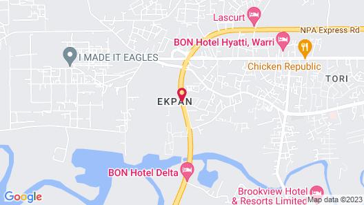 BON Hotel Delta Map