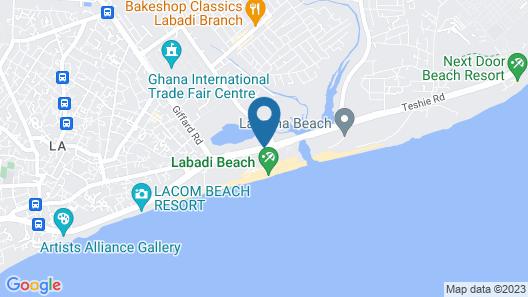 Labadi Beach Hotel Map