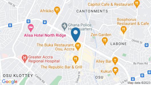La Villa Boutique Hotel Map